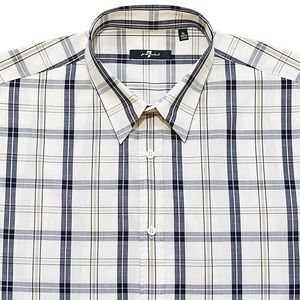 7 FOR ALL MANKIND Plaid Oversized Sport Shirt XL